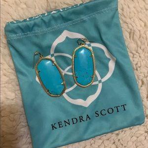 Kendra Scott turquoise classic earrings